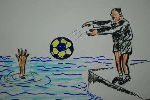 Cartoon: FUTBOL VE SIKE (medium) by MSB tagged futbol