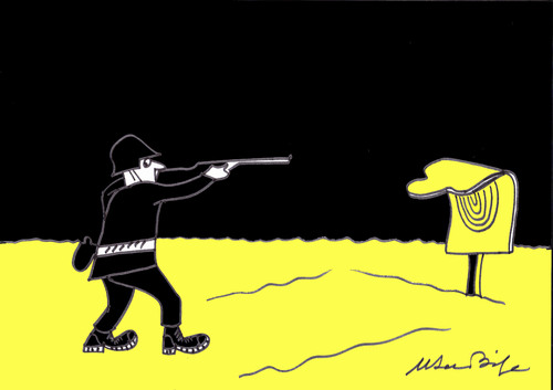 Cartoon: hedef-target (medium) by MSB tagged hedef