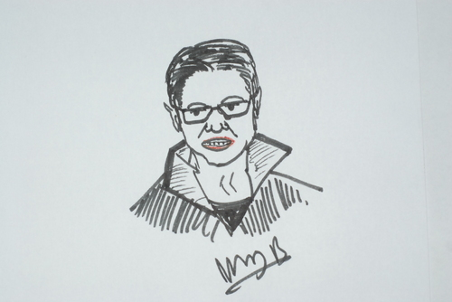 Cartoon: Monica Zanet (medium) by MSB tagged zanet,monica