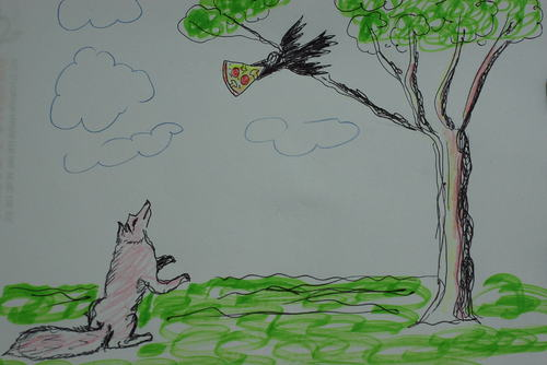 Cartoon: pizza-karga ve tilki (medium) by MSB tagged pizzapitch