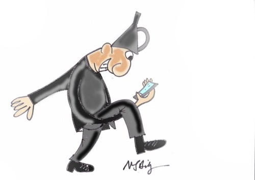 Cartoon: selfie (medium) by MSB tagged selfie