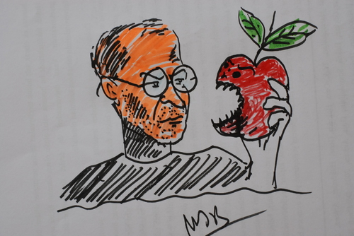 Cartoon: Steve Jobs (medium) by MSB tagged apple