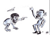 Cartoon: obama ahmedinejad (small) by MSB tagged obama,ahmedinejad