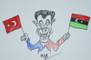 Cartoon: sarkozy libyada (small) by MSB tagged libya,sarkozy