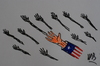 Cartoon: us-afrika (small) by MSB tagged afrika