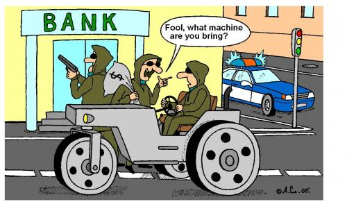Cartoon: Bank Robbery (medium) by Aleksandr Salamatin tagged bank,robbery