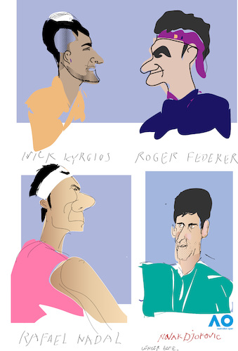 Cartoon: Australian Open 2020 (medium) by gungor tagged australia,australia