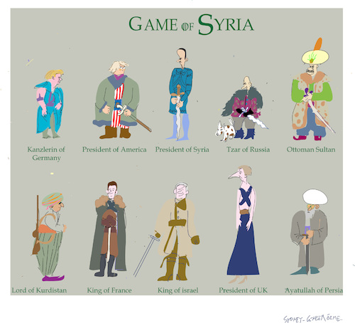 Cartoon: Game of Syria (medium) by gungor tagged syria