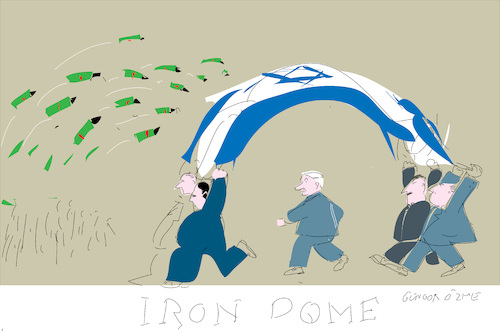 Cartoon: Iron Dome (medium) by gungor tagged middle,east,middle,east