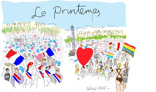 Cartoon: Mariage pour tous (medium) by gungor tagged france