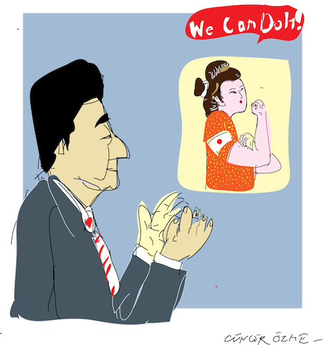 Cartoon: Shinzo Abe (medium) by gungor tagged japan
