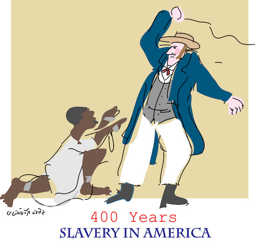 Cartoon: Slavery in America (medium) by gungor tagged usa,usa