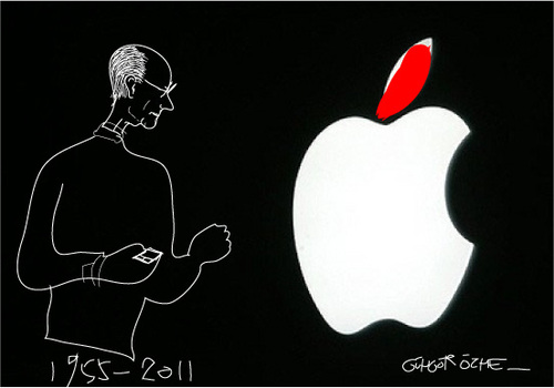 Cartoon: Steve Jobs-2 (medium) by gungor tagged usa