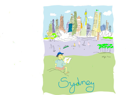 Cartoon: sydney (medium) by gungor tagged sydney,harbour