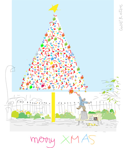 Cartoon: Tree (medium) by gungor tagged christmas