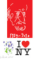 Cartoon: Milton Glaser (small) by gungor tagged usa