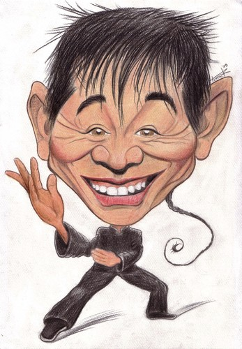 Cartoon: Jet Li (medium) by Tomek tagged jet,li