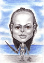 Cartoon: Bond girl (small) by Tomek tagged ursula,andress