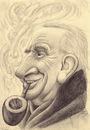 Cartoon: J.R.R.Tolkien (small) by Tomek tagged hobbit