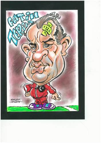 Cartoon: fatih terim (medium) by aydinreco tagged fiorentina,galatasaray,milano,uefa,winner,imparator