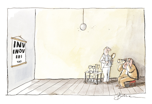 Cartoon: in vino veritas (medium) by Peter Bauer tagged wein,genuss,optiker