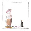 Cartoon: Ohne Titel (small) by Peter Bauer tagged buch,wein,humor,alkohol,missbrauch