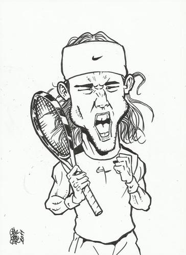 Cartoon: nadal (medium) by gereksiztarama tagged nadal