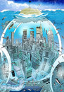 Cartoon: Water World (small) by putuebo tagged water,castaway