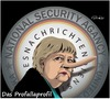 Cartoon: Das Profallaprofil (small) by ESchröder tagged no,spy,geheimdienste,bundeskanzlerin,angela,merkel,kanzleramtschrf,ronald,profalla,lüge,unwahrheit,wahlkampf,nsa,bnd