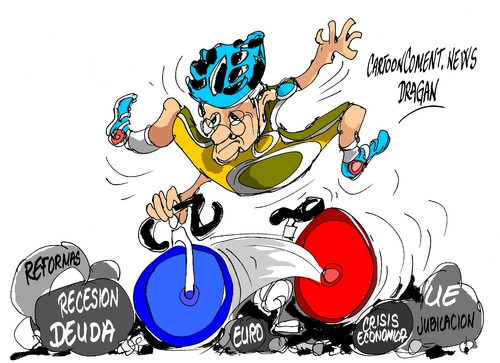Cartoon: Francois Hollande-Tour de France (medium) by Dragan tagged europea,union,francia,france,de,tour,hollande,francois,cartoon,politics,recesion,economic,crisis