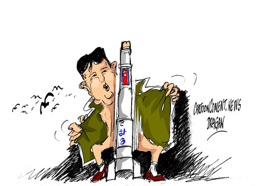 Cartoon: Kim Jong-un (medium) by Dragan tagged kim,jong,un,seul,korea,del,norte,pyongyang,politics,cartoon