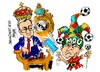 Cartoon: Florentino Perez-Jose Mourinho (small) by Dragan tagged florentino,perez,jose,mourinho,real,madrid,mou,cartoon