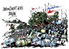 Cartoon: OTAN-Rusia-retirada (small) by Dragan tagged otan,rusia,ukrania,politics,cartoon