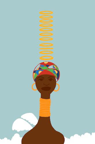 Cartoon: African Woman Illustration... (medium) by berk-olgun tagged african,woman,illustration