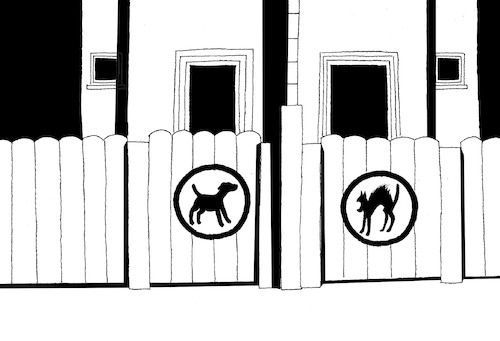 Cartoon: Beware of Dog... (medium) by berk-olgun tagged beware,of,dog