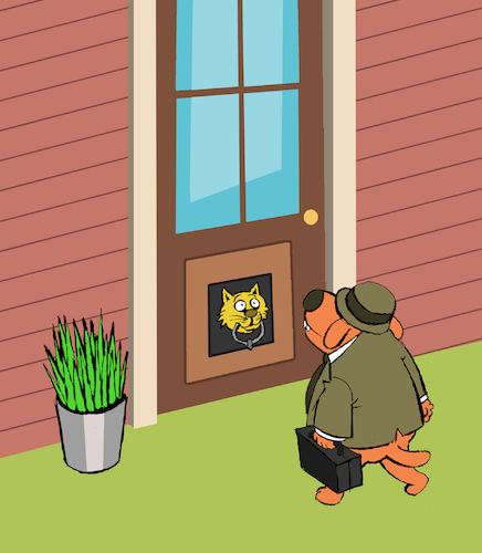 Cartoon: Dog Door... (medium) by berk-olgun tagged dog,door