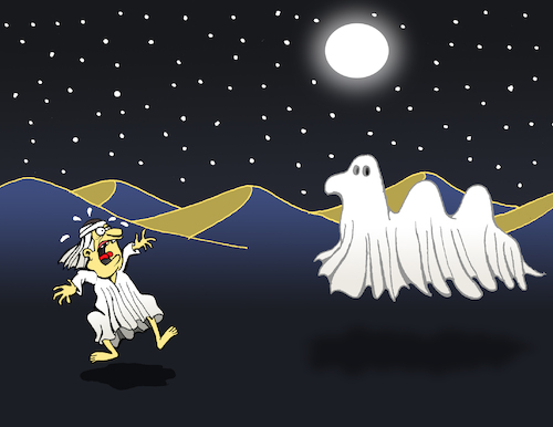 Cartoon: Ghost Camel... (medium) by berk-olgun tagged ghost,camel