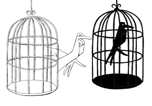 Cartoon: Idea Prison... (medium) by berk-olgun tagged idea,prison