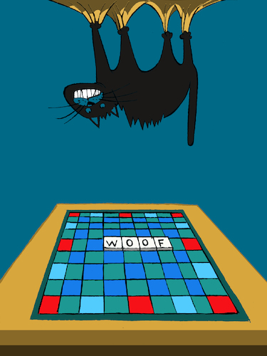 Cartoon: Scrabble... (medium) by berk-olgun tagged scrabble