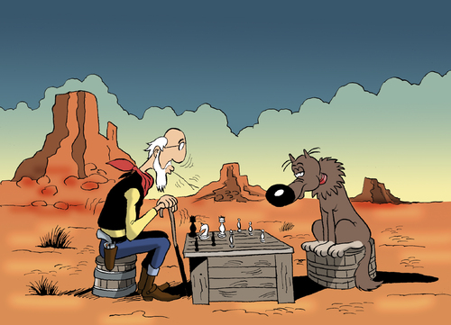 Cartoon: The Old Lucky Luke... (medium) by berk-olgun tagged the,old,lucky,luke