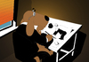 Cartoon: Cartoonist at Work... (small) by berk-olgun tagged cartoonist,at,work