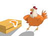 Cartoon: Chicken Dali... (small) by berk-olgun tagged chicken,dali