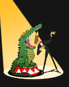 Cartoon: Circus Alligator... (small) by berk-olgun tagged circus,alligator