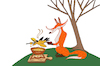 Cartoon: Crow Fondue... (small) by berk-olgun tagged crow,fondue