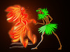 Cartoon: Dance with Fire... (small) by berk-olgun tagged dance,with,fire