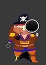 Cartoon: Detective Pirate... (small) by berk-olgun tagged detective,pirate