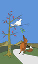 Cartoon: Dove and Fox... (small) by berk-olgun tagged dove,and,fox