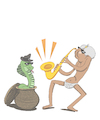 Cartoon: Fakir Jazz... (small) by berk-olgun tagged fakir,jazz