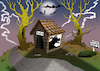 Cartoon: Haunted Dog House... (small) by berk-olgun tagged haunted,dog,house