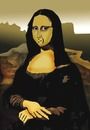 Cartoon: Mona Lisa 2000.. (small) by berk-olgun tagged mona lisa